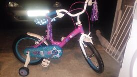 """Little girls 16"""" bike never been used with accessories"""