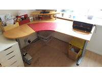 IKEA corner desk GALANT with extension