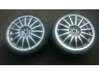 "X2 18"" team dynamics racing Monza r alloy wheels 4x100 for Vauxhall Corsa Astra Honda civic Bmw mini"