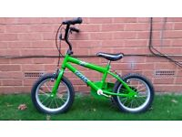 Kids Green Trax Bike 14 inch in Excellent Condition