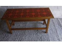 Vintage tiled coffee table 60s/70s