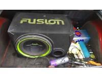 Fusion sub and fli amp.