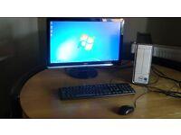 Dell PC(intel Pentium) Inspiron Desktop PC and Monitor