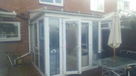 Small White Conservatory, good condition.