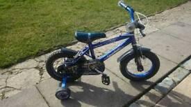 """Boys spider bmx bike 12"""" wheels"""