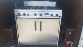 Jackson 400 series 6 ring gas cooker