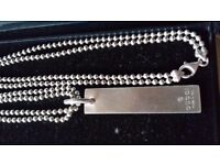 Genuine GUCCI Made in Italy 925 sterling silver mens chain 20''long £95