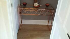 Stunning rose gold console table