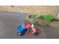 Thomas the Tank Engine trike with adult handle