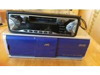 Flip off front jvc radio cassette and 12 disc multi changer all leads