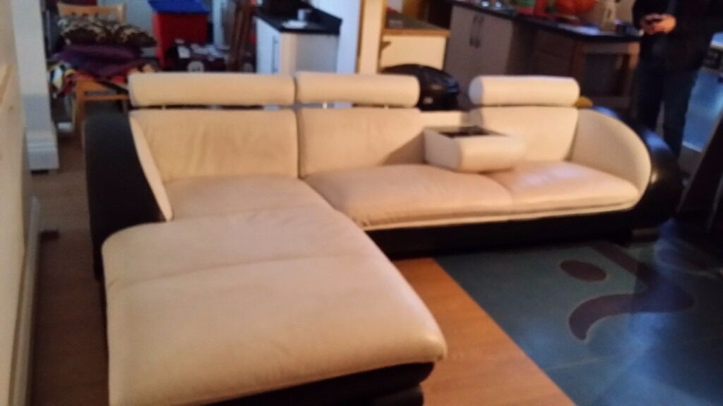 Leather Sofa. Can Be Set Up Seperate Or Put Together As A