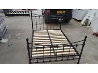 BLACK IRON DOUBLE BED