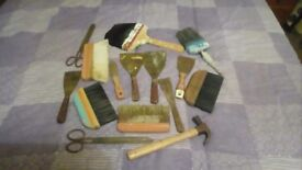 Selection of old decorating stuff