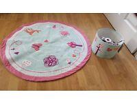 NEXT Girls room/decoration/ woodland print rug & lampshade