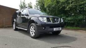 Nissan navara aventura d40 black leather sat nav manual 6 speed vgc NO vat