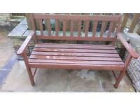 Harwood three seater bench