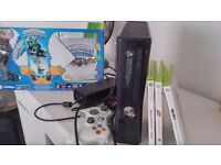 xbox 360 black 4gb with 4 games