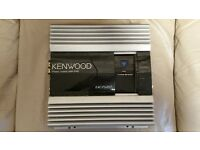 CAR AMPLIFIER KENWOOD PS201T 600 WATT 2CH AMP FOR SUBWOOFER AS BRIDGED OR DOOR SPEAKERS AS STEREO