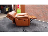 Leather Electric Recliner Armchair - DFS
