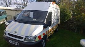 ford transit 350 mwb high top 2006-06-plate, 2400 cc turbo diesel,only 123,000 miles