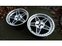 Deep dish alloy wheels