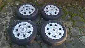 4 Mini wheels and tyres