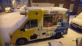 Ice cream van full business comes with full run and all stock 2 chest freezer