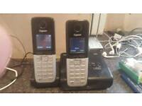 Gigaset twin pack house phones with answerphone