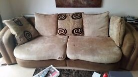2x matching sofa and large footstool free! Collection only