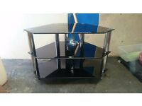 Tv stand, glass tv stand