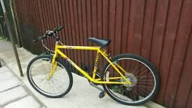 Yellow men's/boys mountain bike