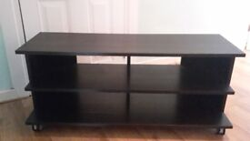 Black wooden tv unit