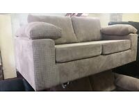 BUY THE ANCONA JUMBO CORD MINK 3 SEATER £499 GET 2 SEATER FREE BRAND NEW WITH AMAZING PADDED ARMS