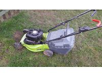 Performance power petrol lawnmower self propelled