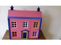 Doll's house with furniture, Edwardian style, great condition.