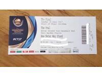 2 X Gold ICC Trophy Final Tickets 18/06/2017