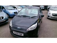 £600 OFF..2009 FORD KA 1.3 STYLE IN BLACK WITH AUG 2017 MOT 62K NEW SERVICE CD E/WINDOWS + MIRRORS +