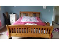 Very heavy solid wood king size bed