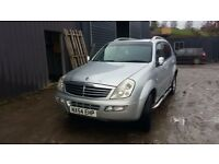 breaking ssangyong rexton turbo diesel 4x4 leather interior alloys 7 seats