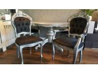 Rococo Italian Dining table & Chairs