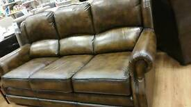 BARGAIN Fantastic condition Thomas Lloyd leather 3 seat sofa and armchair originally £2518