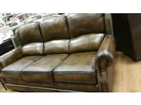 BARGAIN Fantastic condition Thomas Lloyd leather 3 seat sofa and armchair originally £2518