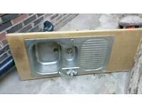 Kitchen sink with mixer tap £25