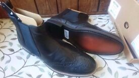 Urgent Sale_BRAND NEW_Men's size 8 Black Brogue Chelsea Boots - Includes Box