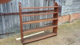 Vintage Early 20th Century Large Solid Oak Bookcase.