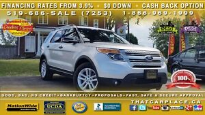 2013 Ford Explorer XLT-$90/Wk-Bluetooth-DualSunroof-USB/AUX/Mp3/