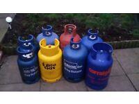 Gas bottles range from 11kg to 15kg (Calor) - empty