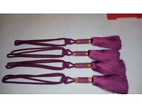 Set of curtain tie backs (four)