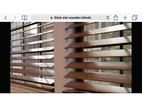 5 wooden thick slat blinds