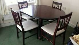 Dining table and matching 4 chairs